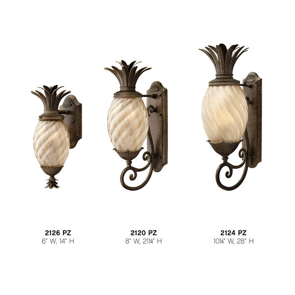 Plantation Small Outdoor Wall Mount with Light Amber Glass, image 4