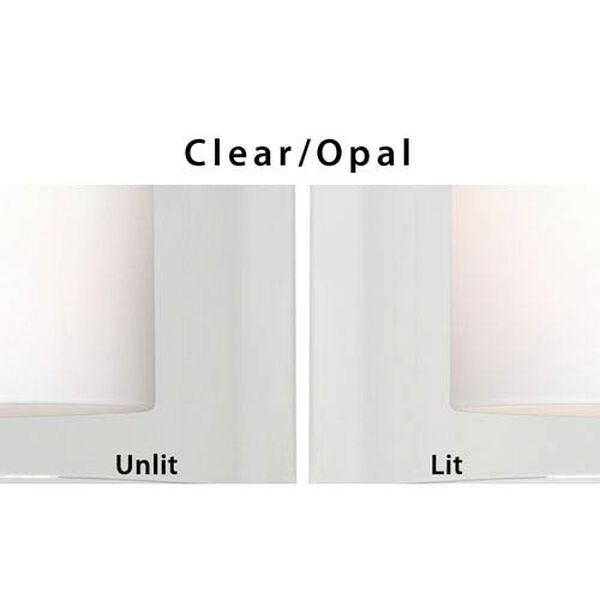 Pahu 4 Chrome One-Light LED Bath Sconce with Clear Glass, image 2