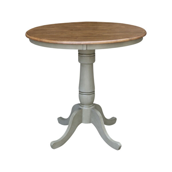 Hickory and Stone 36-Inch Width x 35-Inch Height Hardwood Round Top Counter Height Pedestal Table, image 1
