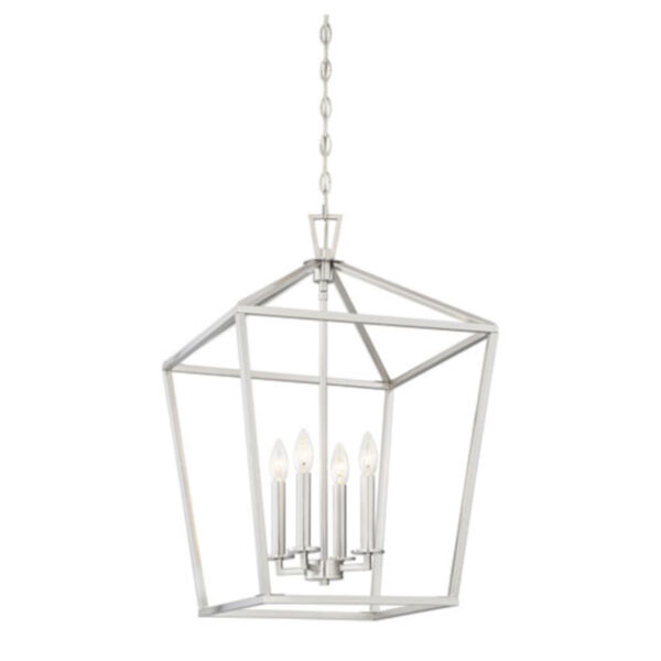 Anna Brushed Nickel 17-Inch Four-Light Pendant, image 3