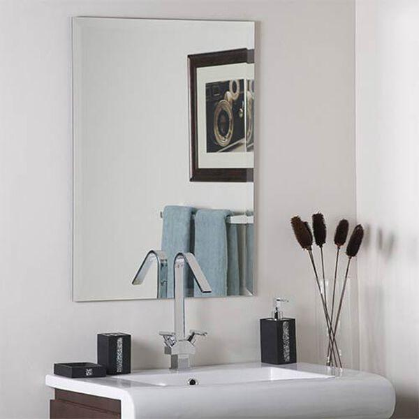Frameless Square Beveled Mirror, image 1