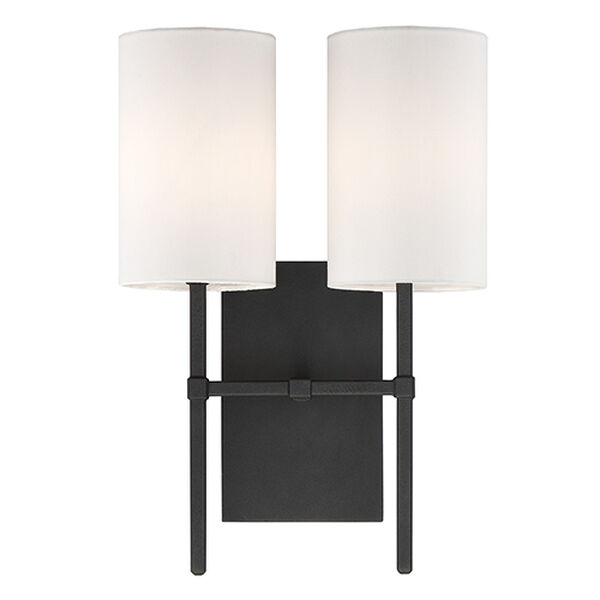 Vincent Black Two-Light Wall Sconce, image 1