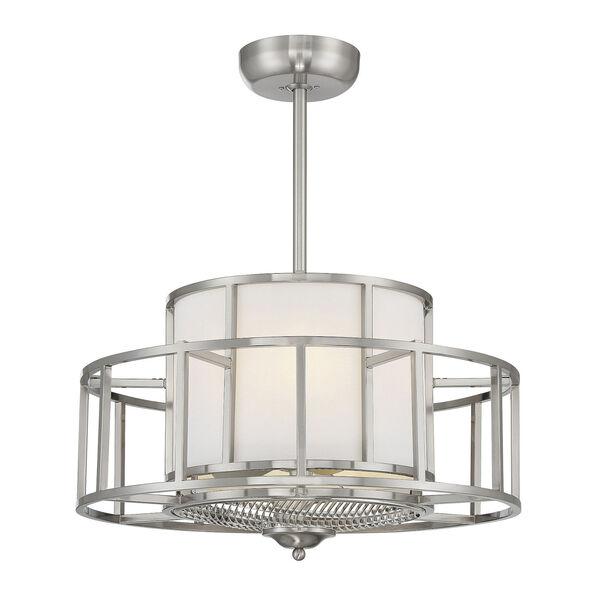 Oslo Satin Nickel Four-Light LED Fandelier, image 1