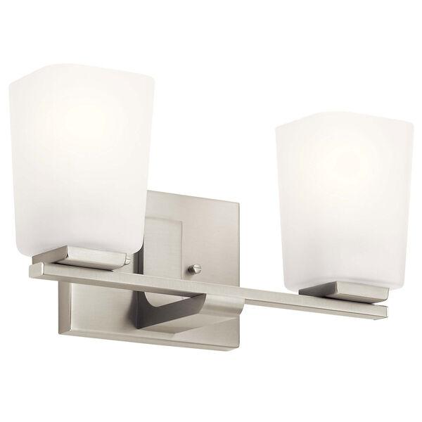 Roehm Brushed Nickel Two-Light Bath Vanity, image 1