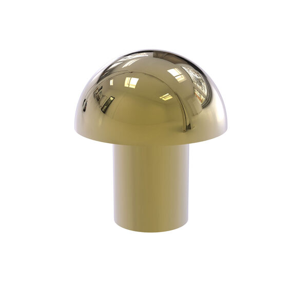 Unlacquered Brass One-Inch Cabinet Knob, image 1