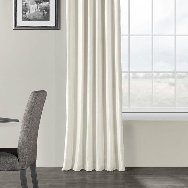 Off White Vintage Textured Faux Dupioni Silk Single Panel Curtain, 50 X 96, image 5