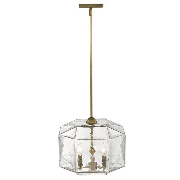 Loft Brass Three-Light Pendant, image 2