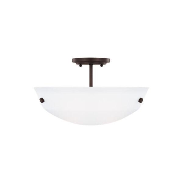 Kerrville Bronze Two-Light Semi-Flush Convertible Pendant, image 2