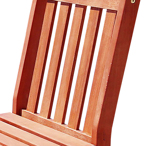 Malibu Eco-friendly Outdoor Hardwood Garden Armless Chair, image 4