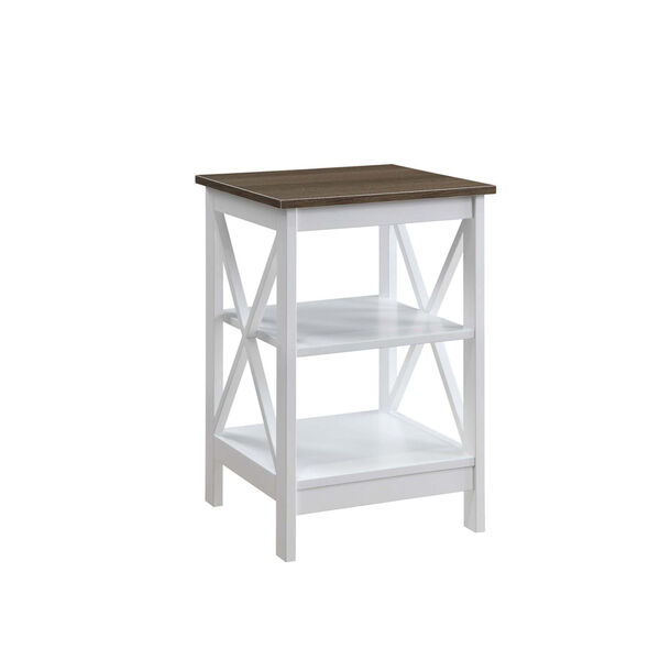 Oxford Driftwood White End Table, image 1