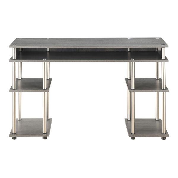 Designs2Go Charcoal Gray No Tools Student Desk, image 6
