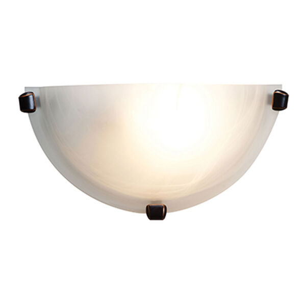 Mona Oil Rubbed Bronze One-Light Wall Sconce with Alabaster Glass, image 1