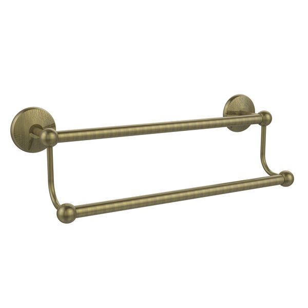 Antique Brass 24-Inch Double Towel Bar, image 1