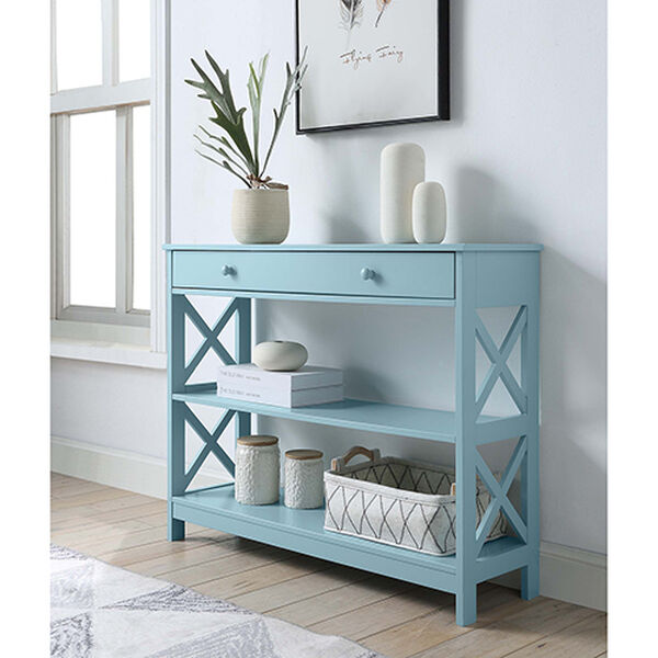 Oxford Sea Foam One Drawer Console Table, image 2
