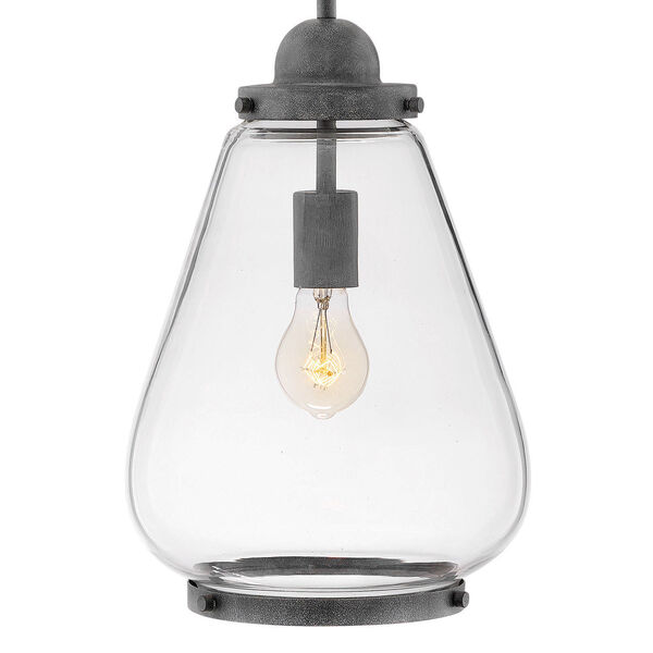 Finley Aged Zinc One-Light Outdoor Pendant, image 2