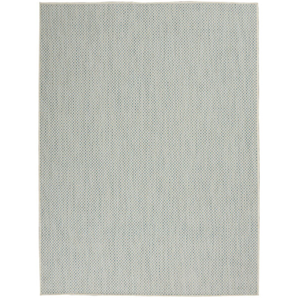 Courtyard Ivory and Aqua 6 Ft. x 9 Ft. Rectangle Indoor/Outdoor Area Rug, image 2