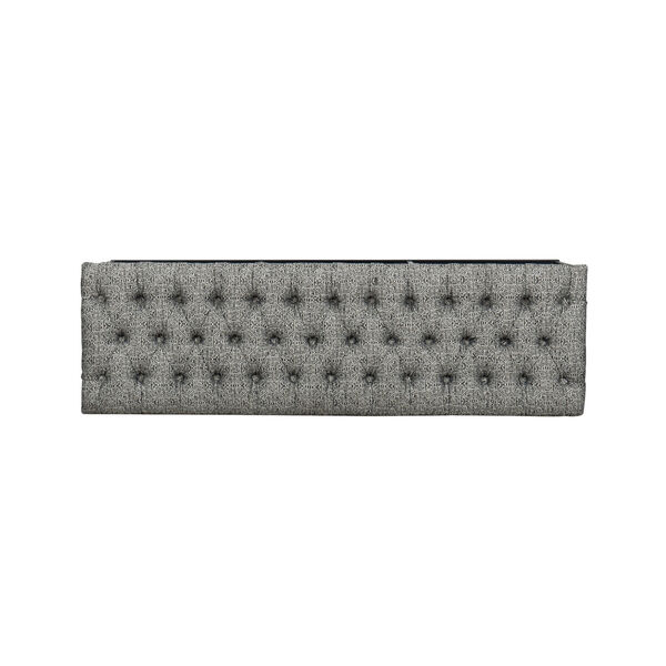 Black and White 52-Inch Fabric and Metal Bench, image 6