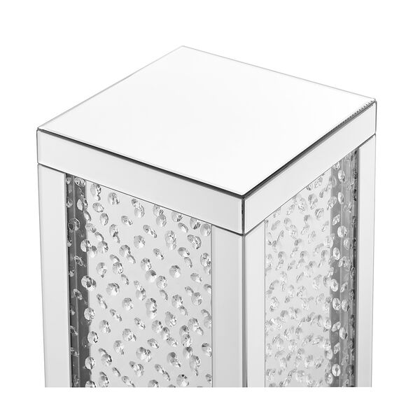 Modern Mirrored 20-Inch Crystal End Table, image 5