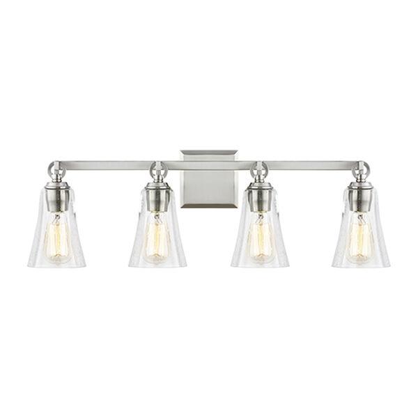 Hatfield Satin Nickel Four-Light Vanity, image 1
