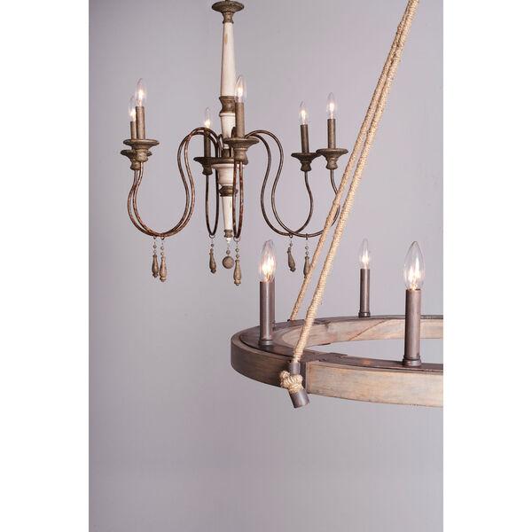 Grace Antiqued Six-Light Chandelier, image 8