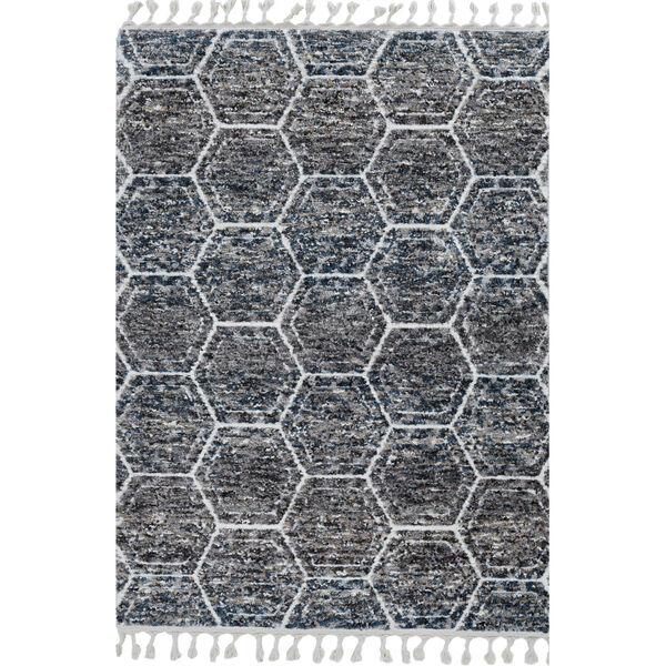 Bungalow Gray and Teal Runner: 2 Ft. 2 In. x 7 Ft. 6 In. Rug, image 1