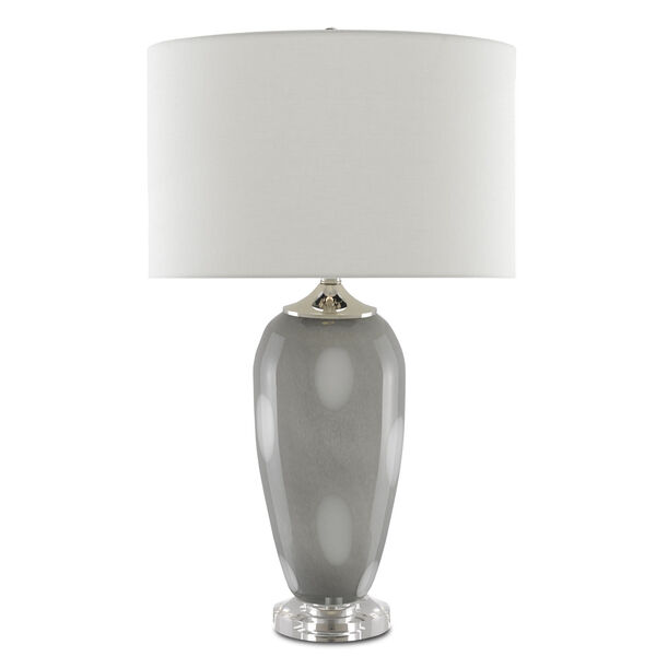 Polydore Dark Gray White Polished Nickel One-Light Table Lamp, image 2