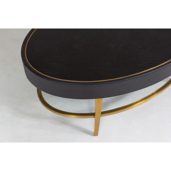 Ellipse Black and Gold Cocktail Table, image 3