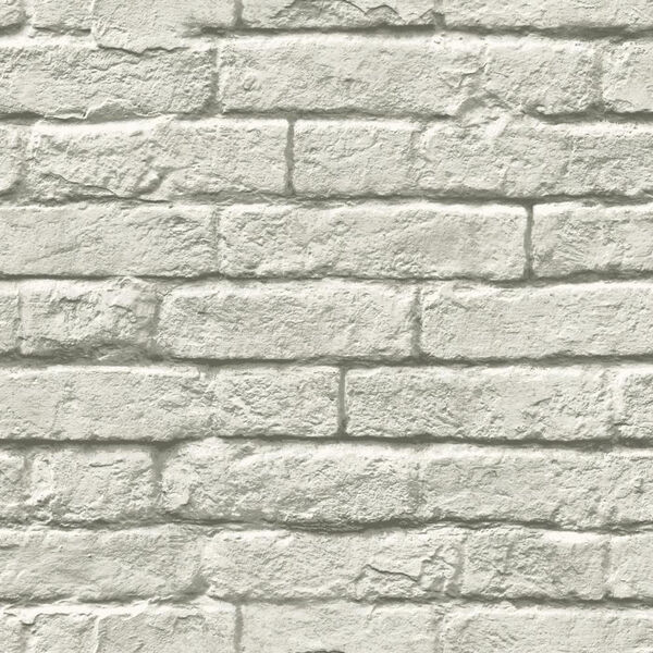 Brick-and-Mortar Gray and White Removable Wallpaper- SAMPLE SWATCH ONLY, image 1