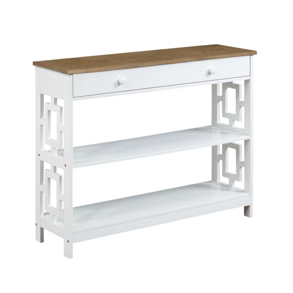 Town Square Driftwood White Accent Console Table, image 3