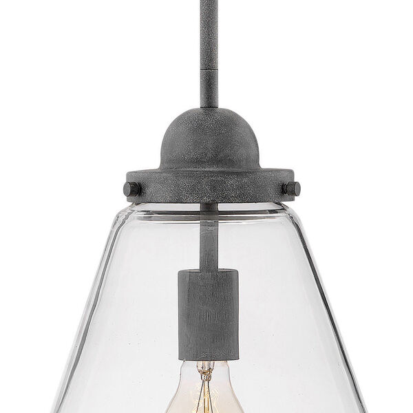 Finley Aged Zinc One-Light Outdoor Pendant, image 3