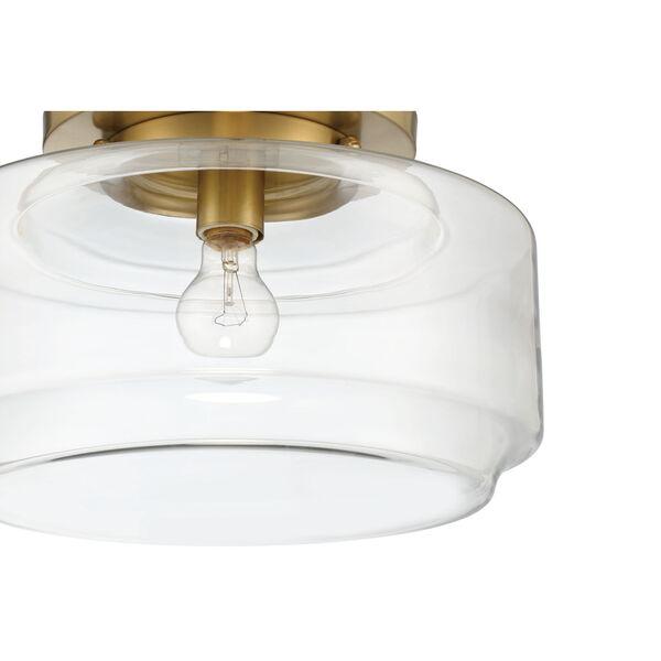 Peri Satin Brass 14-Inch One-Light Flushmount, image 4