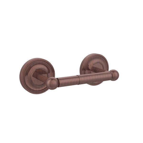 Antique Copper Double Post Toilet Paper Holder, image 1