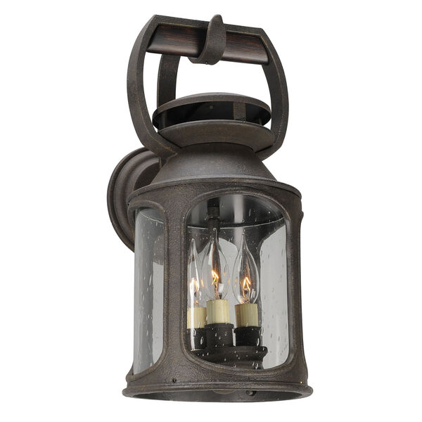 Old Trail Centennial Rust Three-Light Eight-Inch Outdoor Wall Sconce, image 1
