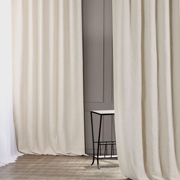 Bellino Cottage White 50 x 120-Inch Blackout Curtain, image 1