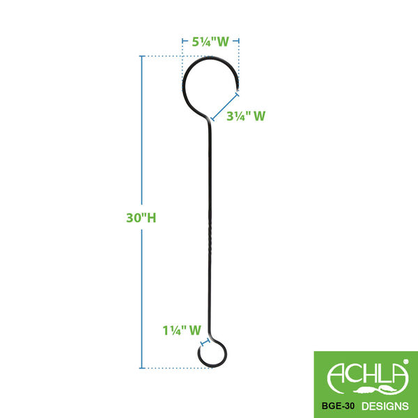 Black Powdercoat 30-Inch Extender with Twist, Set of Two, image 2