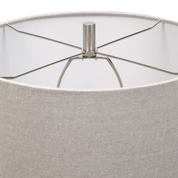 Comanche Off-White One-Light Crackle Table Lamp, image 6