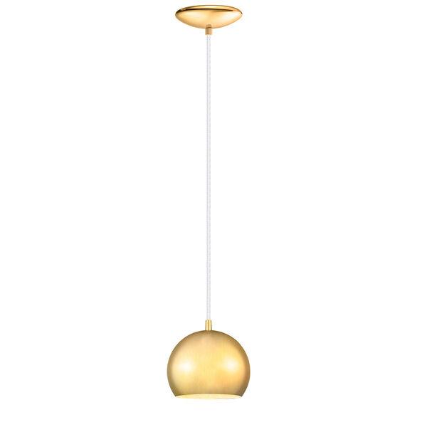 Petto Brushed Gold One-Light Mini Pendant, image 1