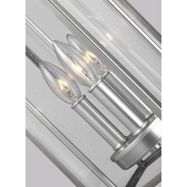 Buchanan Painted Brushed Steel Three-Light Outdoor Pendant Lantern, image 4