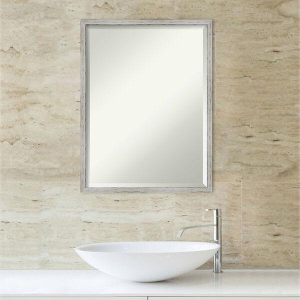 Shiplap White 19W X 25H-Inch Bathroom Vanity Wall Mirror, image 5