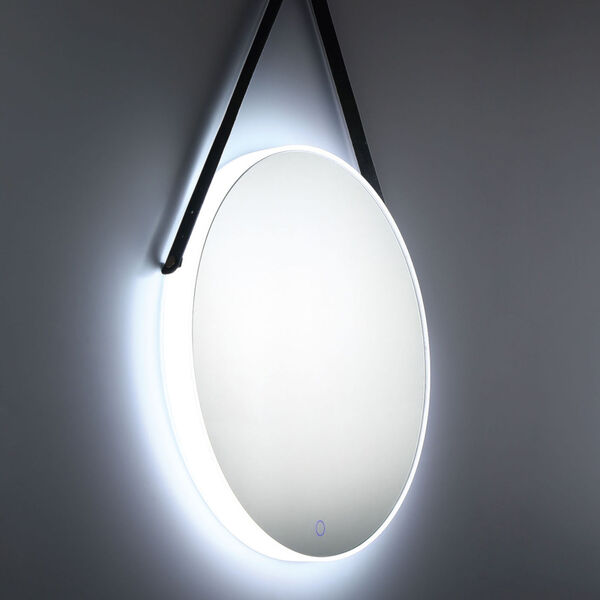 Silver One-Light LED Mirror, image 6