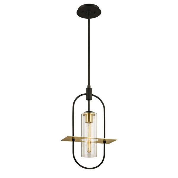 Smyth Dark Bronze One-Light Outdoor Pendant  with Clear Glass, image 1