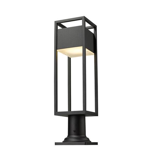 Barwick Black 23-Inch One-Light LED Outdoor Pier Mount, image 5