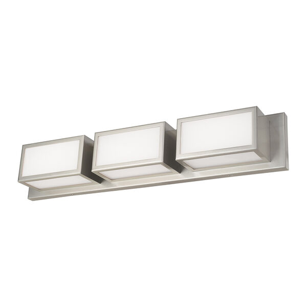 Sutter Brushed Nickel 24-Inch ADA Bath Vanity with Hand Blown Satin Opal White Glass, image 5