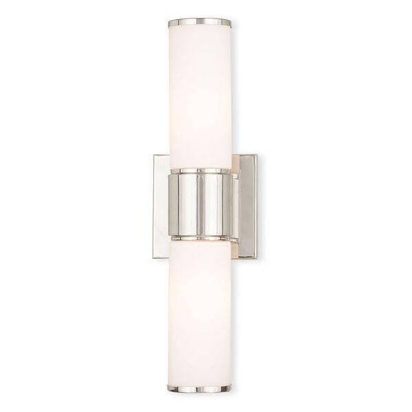 Weston Polished Nickel Two-Light 16.5-Inch Bath Vanity, image 1