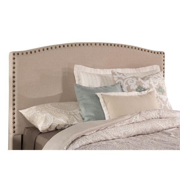 Kerstein Light Taupe Fabric Full Headboard Only, image 2