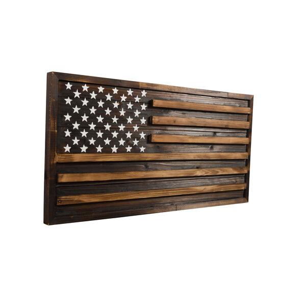 Rustic Pine Multicolor American Flag Wall Art, image 3