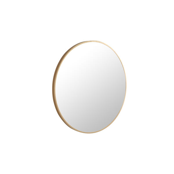 Eternity Brushed Brass Round 24-Inch Mirror, image 6