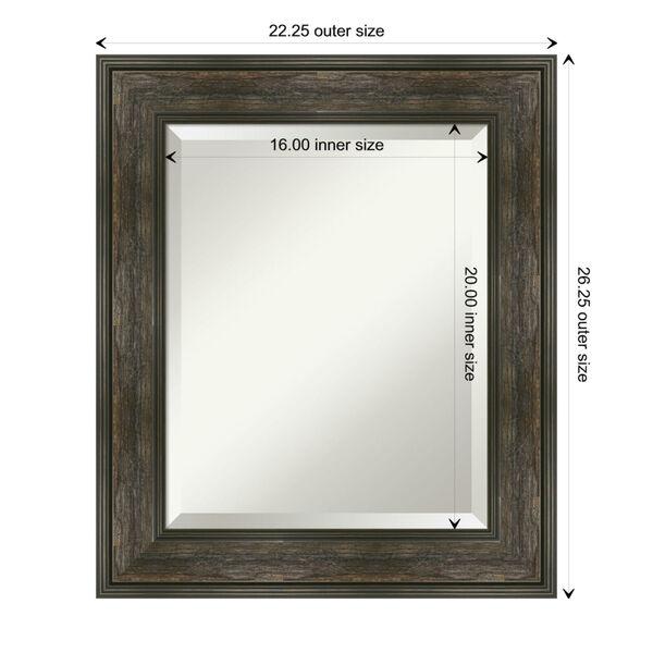 Rail Brown 22W X 26H-Inch Bathroom Vanity Wall Mirror, image 6