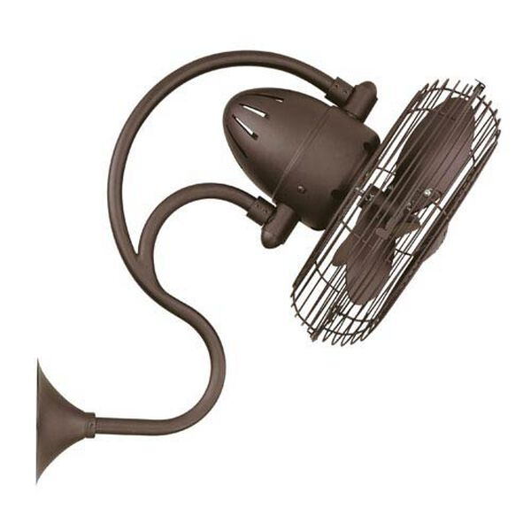 Melody Textured Bronze Oscillating Wall Mounted Fan, image 1