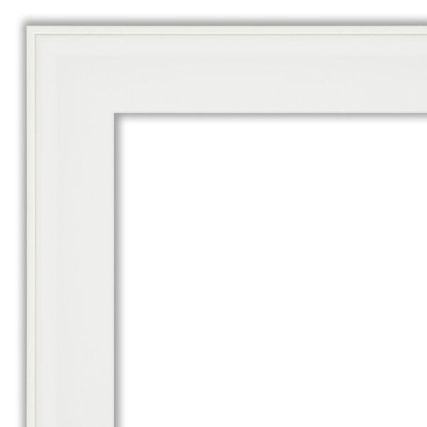 White 23W X 23H-Inch Bathroom Vanity Wall Mirror, image 2